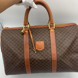 Authentic Celine vintage macadam travel bag